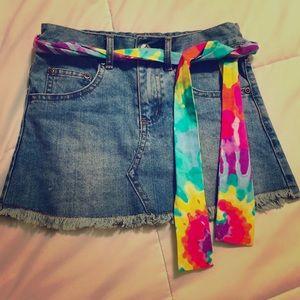 Kids jeans skirt.